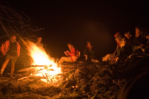 sitting-around-campfire