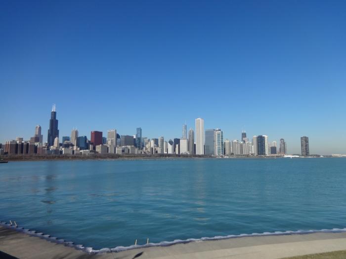 chicago skyline midday