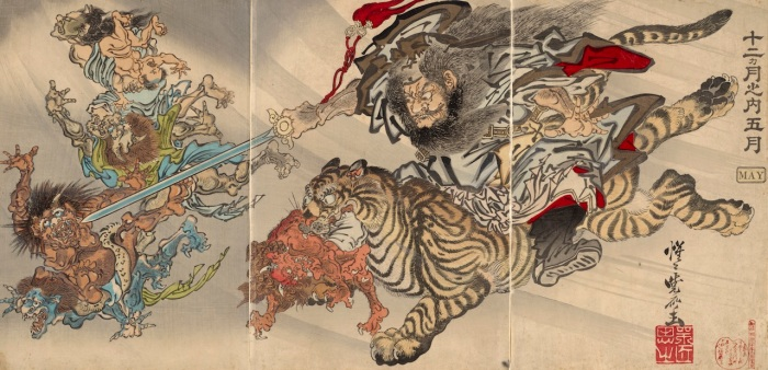 Kyosai_May-Shoki-Demon-Queller-Riding-Tiger