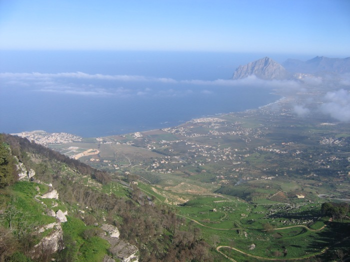 Erice Looking North